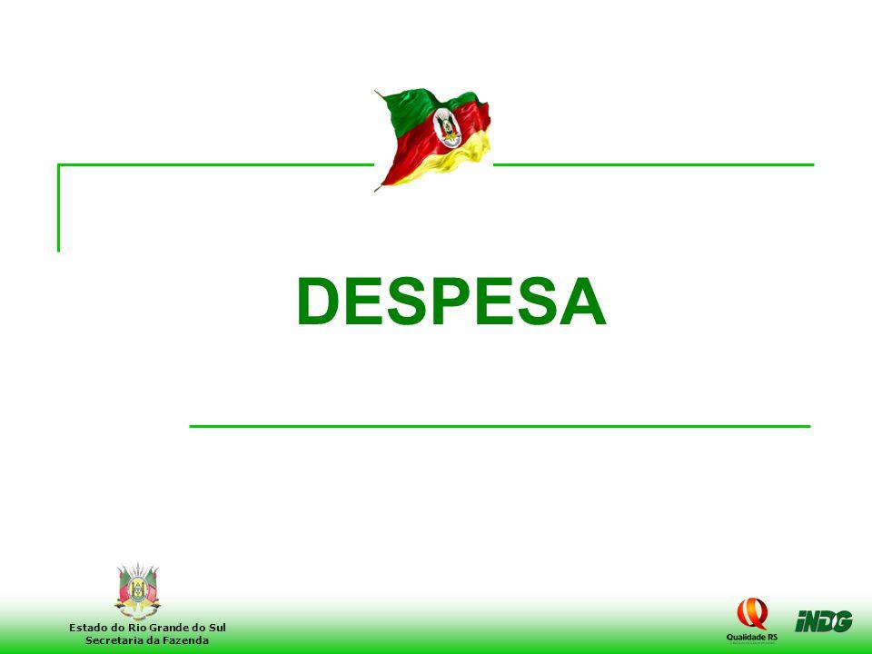 21 Estado do Rio Grande do Sul Secretaria da Fazenda DESPESA