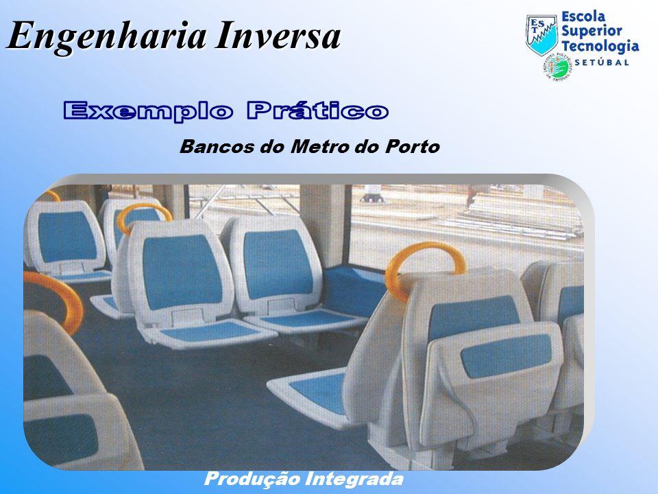 Engenharia Inversa Produção Integrada Bancos do Metro do Porto DigitalizaçãoDesignModelo CADProtótipo