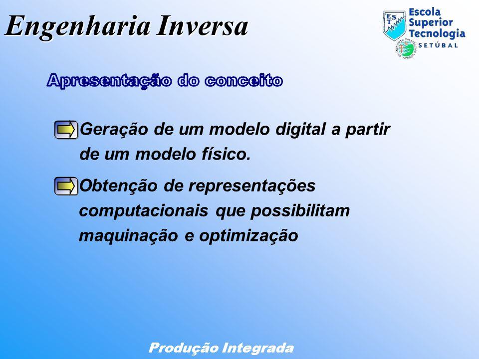 Engenharia Inversa Produção Integrada Geração de um modelo digital a partir de um modelo físico. Obtenção de representações computacionais que possibi