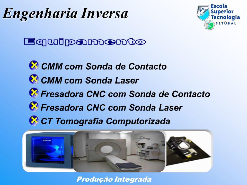 Engenharia Inversa Produção Integrada CMM com Sonda de Contacto CMM com Sonda Laser Fresadora CNC com Sonda Laser Fresadora CNC com Sonda de Contacto