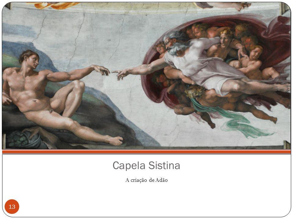 Capela Sistina A criação de Adão 13