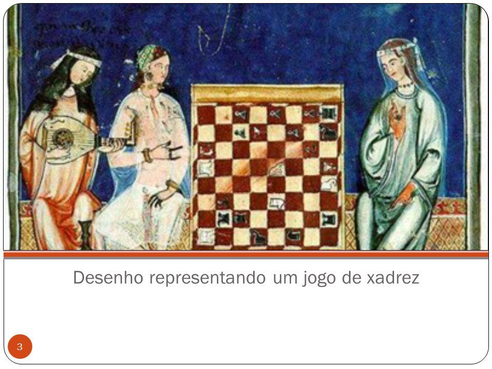 Desenho representando um jogo de xadrez 3
