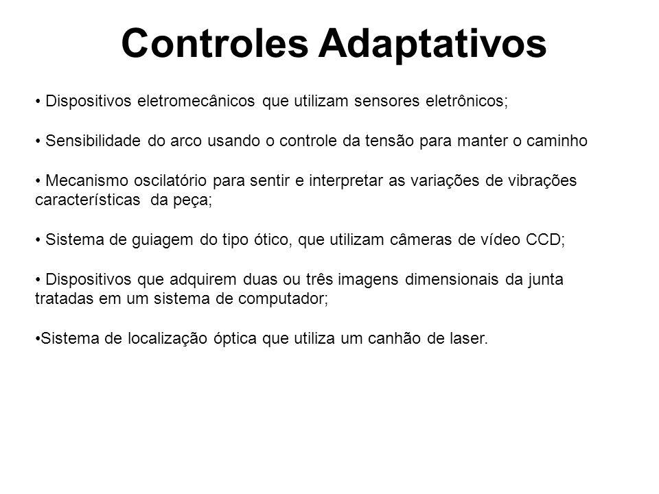 Controles Adaptativos • Dispositivos eletromecânicos que utilizam sensores eletrônicos; • Sensibilidade do arco usando o controle da tensão para mante