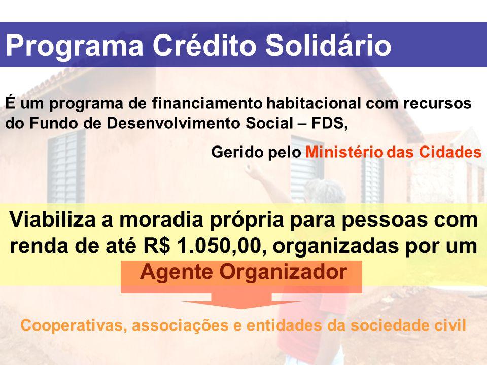 É um programa de financiamento habitacional com recursos do Fundo de Desenvolvimento Social – FDS, Gerido pelo Ministério das Cidades Viabiliza a mora