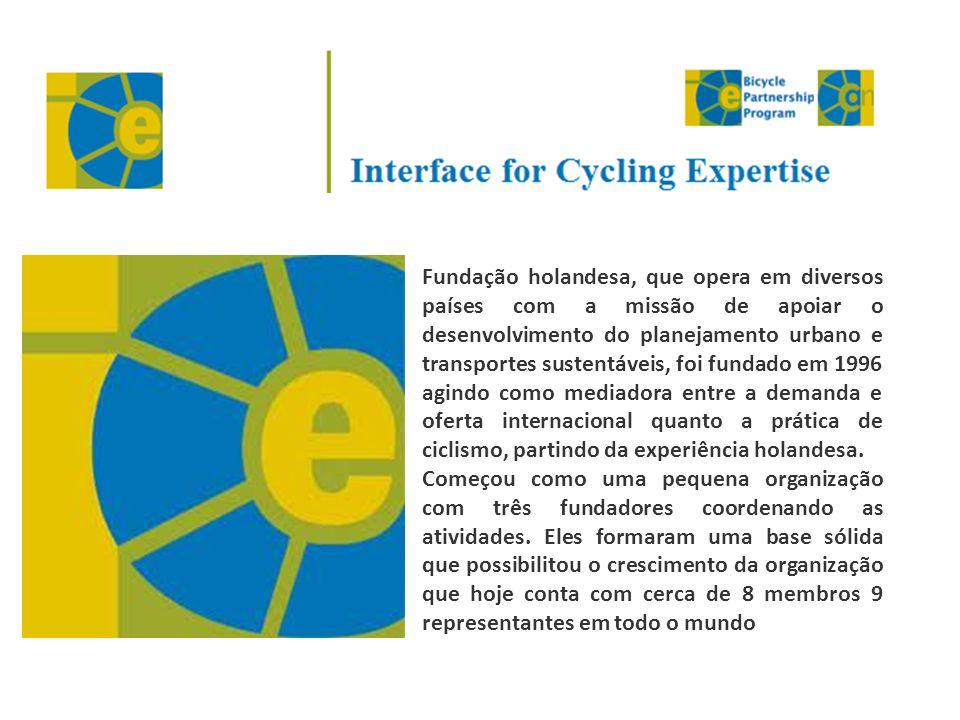 Fundação holandesa, que opera em diversos países com a missão de apoiar o desenvolvimento do planejamento urbano e transportes sustentáveis, foi funda