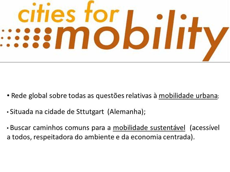 • Rede global sobre todas as questões relativas à mobilidade urbana ; • Situada na cidade de Sttutgart (Alemanha); • Buscar caminhos comuns para a mob