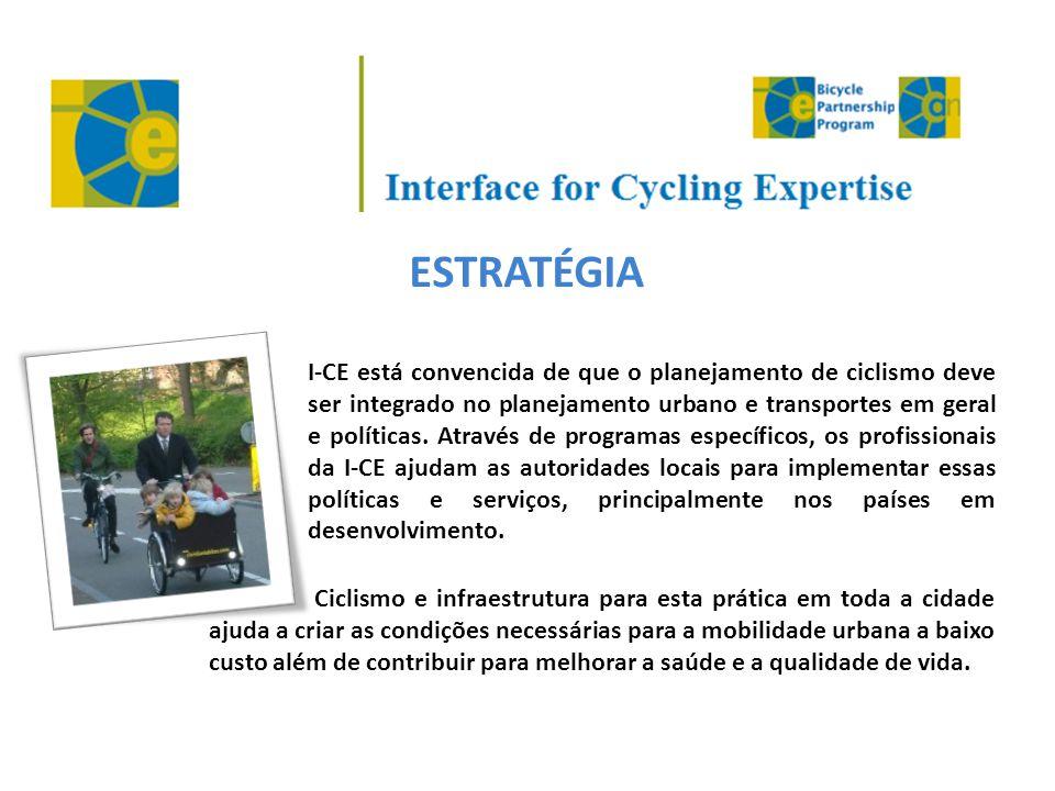 ESTRATÉGIA I-CE está convencida de que o planejamento de ciclismo deve ser integrado no planejamento urbano e transportes em geral e políticas. Atravé