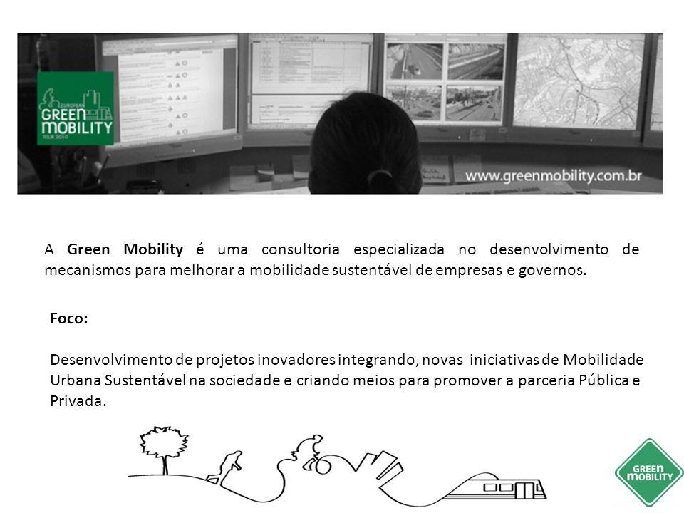A Green Mobility é uma consultoria especializada no desenvolvimento de mecanismos para melhorar a mobilidade sustentável de empresas e governos. Foco: