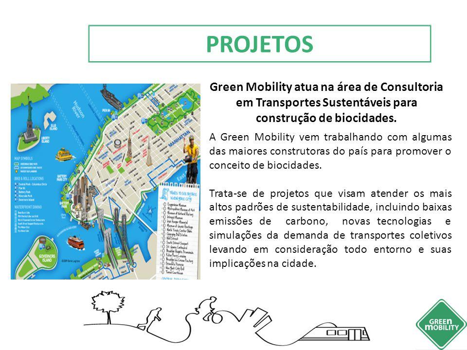 Green Mobility atua na área de Consultoria em Transportes Sustentáveis para construção de biocidades. A Green Mobility vem trabalhando com algumas das