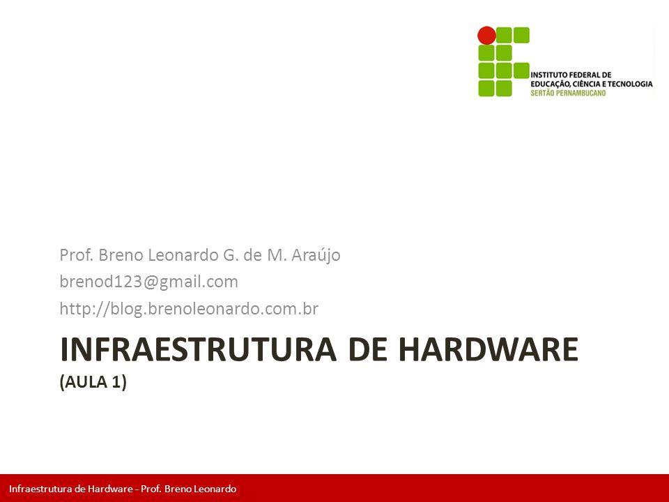 Infraestrutura de Hardware - Prof. Breno Leonardo INFRAESTRUTURA DE HARDWARE (AULA 1) Prof. Breno Leonardo G. de M. Araújo brenod123@gmail.com http://