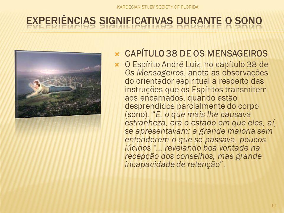  CAPÍTULO 38 DE OS MENSAGEIROS  O Espírito André Luiz, no capítulo 38 de Os Mensageiros, anota as observações do orientador espiritual a respeito da