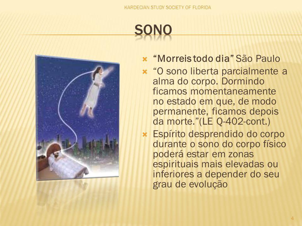 """ """"Morreis todo dia"""" São Paulo  """"O sono liberta parcialmente a alma do corpo. Dormindo ficamos momentaneamente no estado em que, de modo permanente,"""