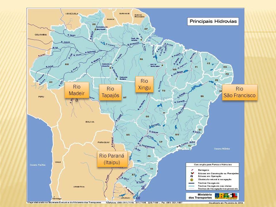 Rio Madeir a Rio Madeir a Rio Tapajós Rio Tapajós Rio Xingu Rio Xingu Rio Paraná (Itaipu) Rio Paraná (Itaipu) Rio São Francisco Rio São Francisco