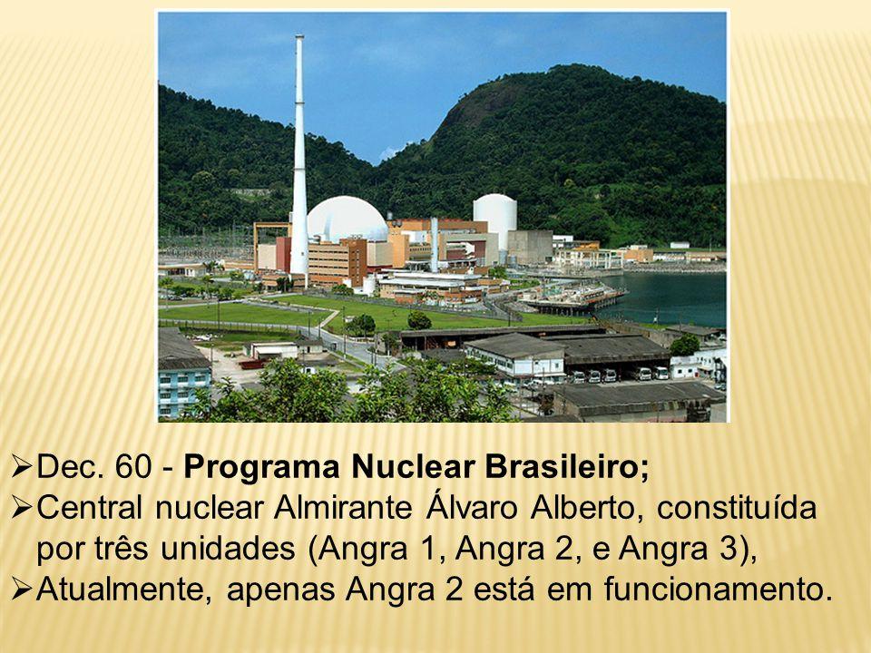  Dec. 60 - Programa Nuclear Brasileiro;  Central nuclear Almirante Álvaro Alberto, constituída por três unidades (Angra 1, Angra 2, e Angra 3),  At
