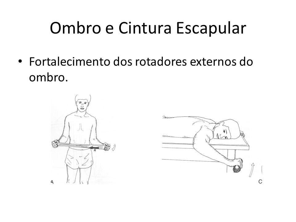Ombro e Cintura Escapular • Fortalecimento dos rotadores externos do ombro.