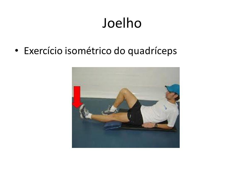 Joelho • Exercício isométrico do quadríceps