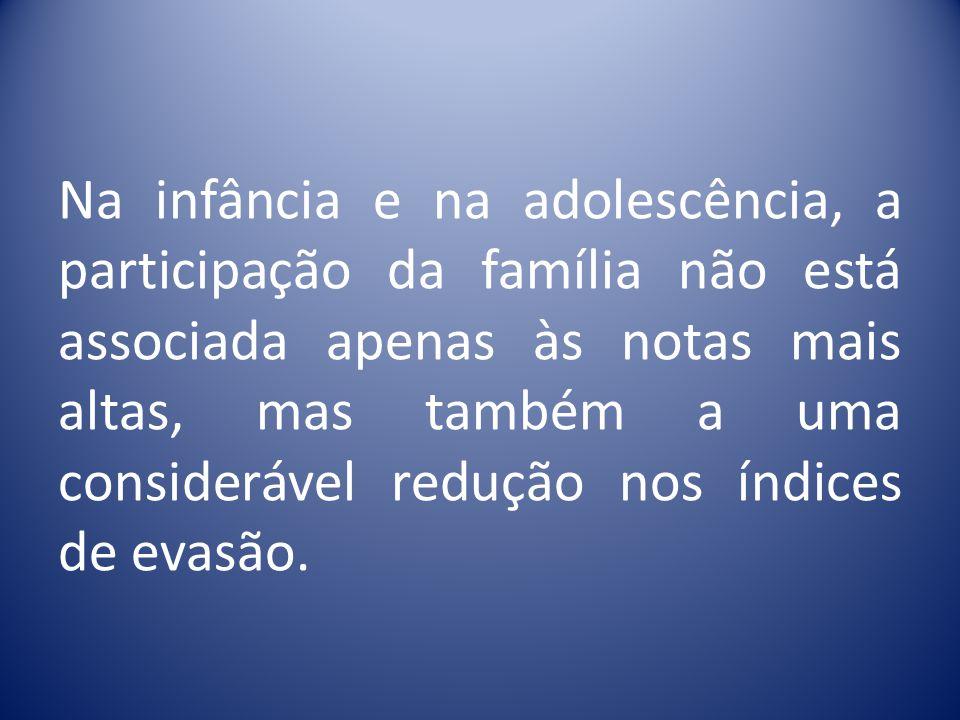Um estudo da Fundação Getúlio Vargas mostra que os efeitos da presença dos pais na vida escolar, ainda que mínima, se fazem notar por toda a vida adul