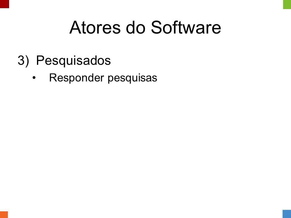 Atores do Software 3) Pesquisados •Responder pesquisas