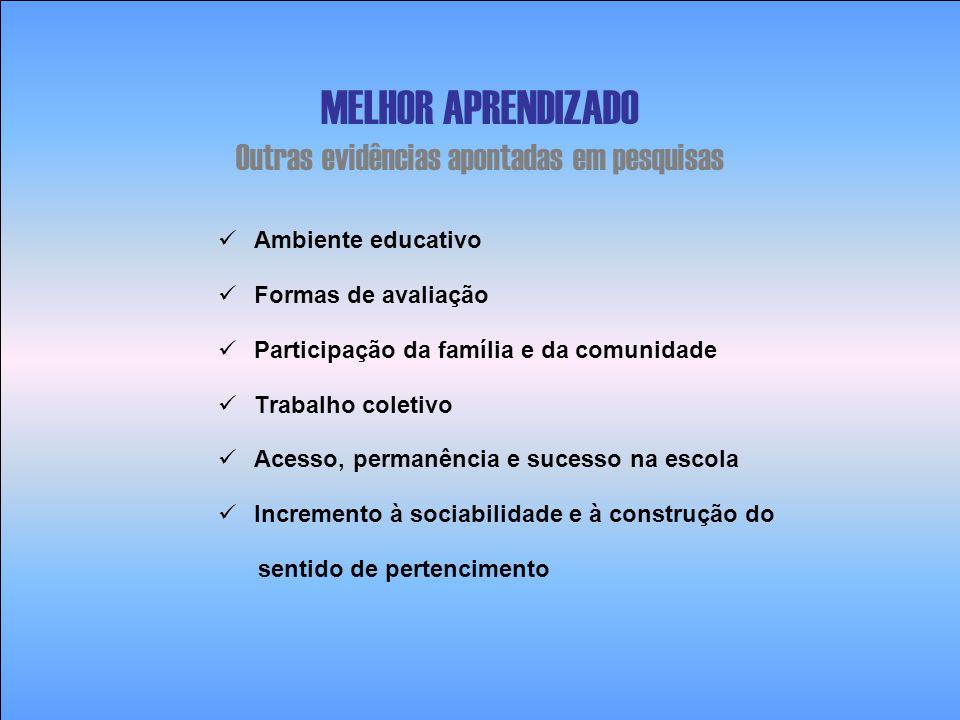 PLANO NACIONAL DE EDUCAÇÃO – PNE (Lei 10.172/01) Ensino Fundamental Regularizar o fluxo escolar reduzindo em 50%, em cinco anos, as taxas de repetência e evasão, por meio de programas de aceleração da aprendizagem e de recuperação paralela ao longo do curso, garantindo efetiva aprendizagem.