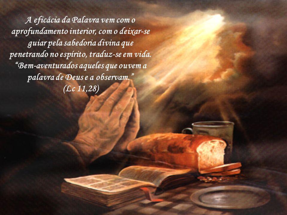 Quem de boa vontade ouve a palavra de Deus gozará de seus frutos. Vejamos o PAI-NOSSO que é a oração que pede com sinceridade e amor a glória de Deus,