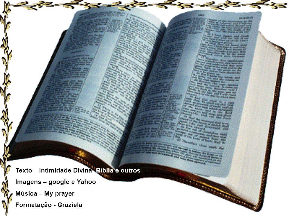 Texto – Intimidade Divina, Bíblia e outros Imagens – google e Yahoo Música – My prayer Formatação - Graziela