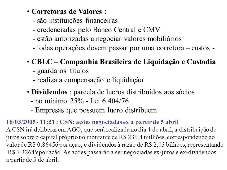 Mercado Primário e Secundário - Primário : novas ações no mercado, os recursos vão para a companhia.