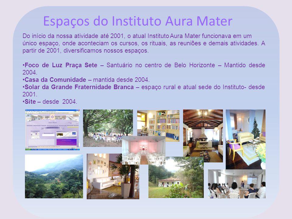 Espaços do Instituto Aura Mater Do início da nossa atividade até 2001, o atual Instituto Aura Mater funcionava em um único espaço, onde aconteciam os