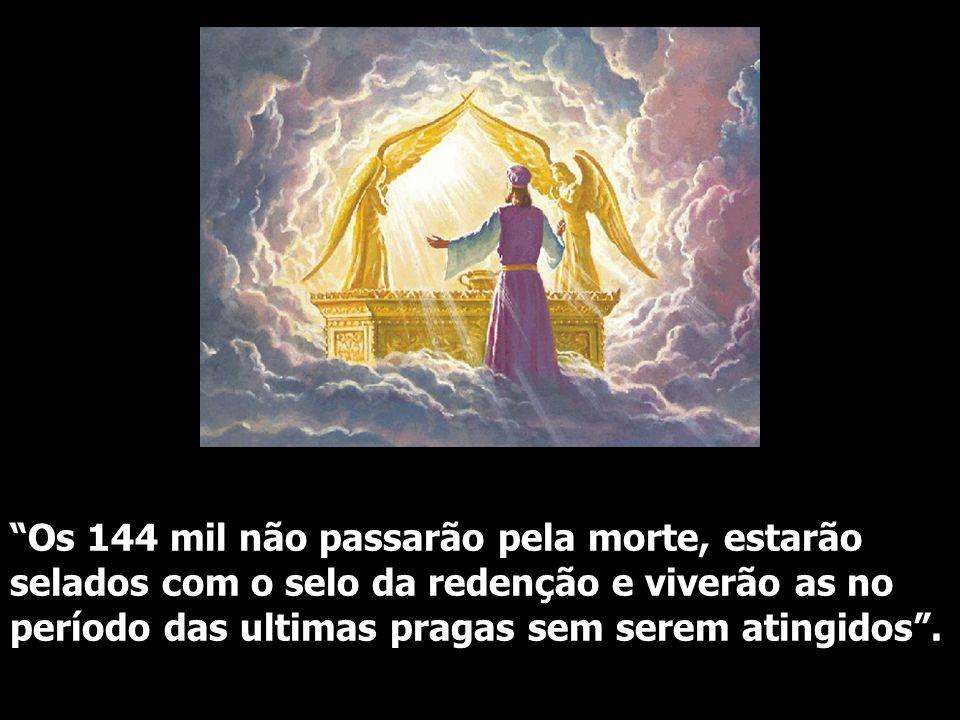 """""""Os 144 mil não passarão pela morte, estarão selados com o selo da redenção e viverão as no período das ultimas pragas sem serem atingidos""""."""
