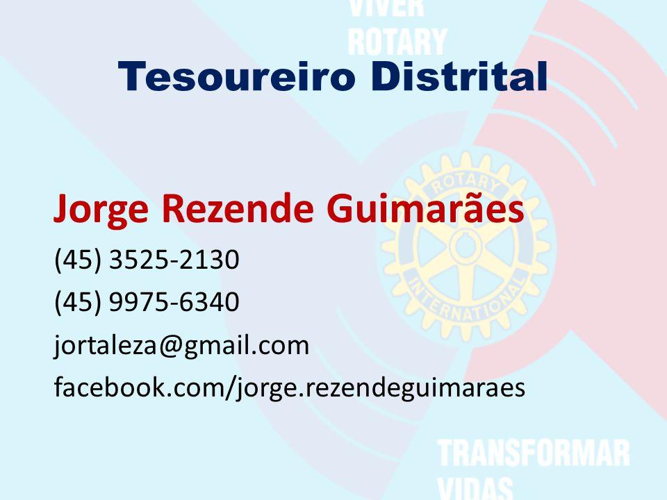 Tesoureiro Distrital Jorge Rezende Guimarães (45) 3525-2130 (45) 9975-6340 jortaleza@gmail.com facebook.com/jorge.rezendeguimaraes
