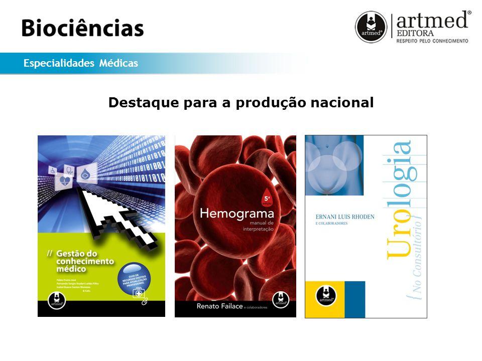 Especialidades Médicas Destaque para a produção nacional