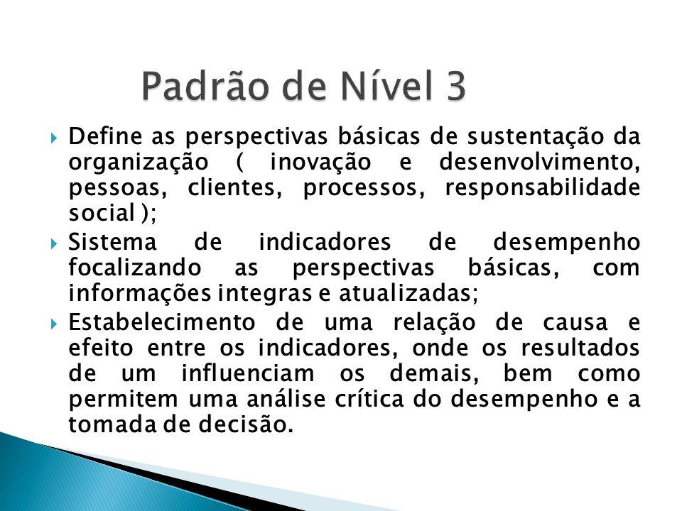  Define as perspectivas básicas de sustentação da organização ( inovação e desenvolvimento, pessoas, clientes, processos, responsabilidade social );