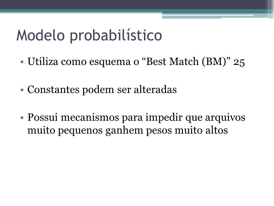 Colapsos •Permite eliminar documentos repetidos •Realizado durante o processo de match • Collapse key •Restrição de número de matches por fonte