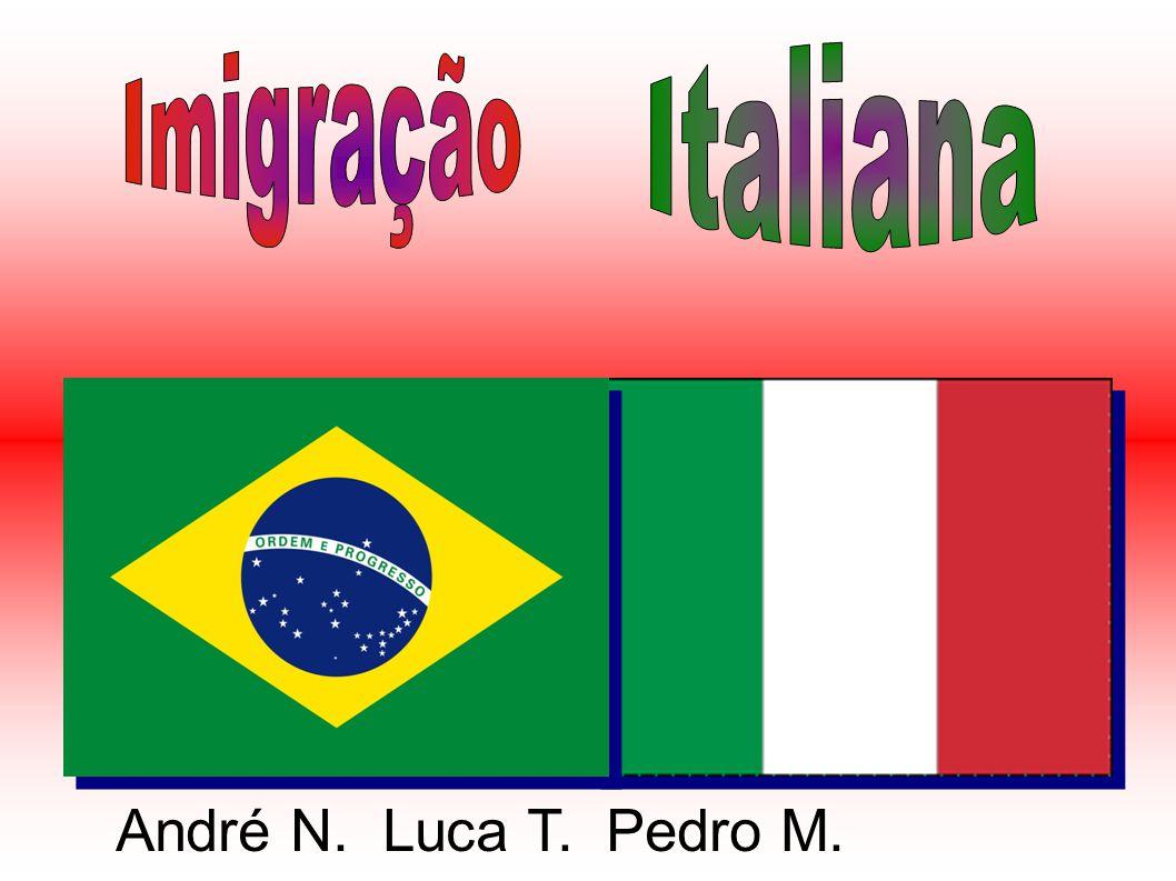 Os primeiros italianos chegaram ao Brasil em 1875, eles vieram através de navios.