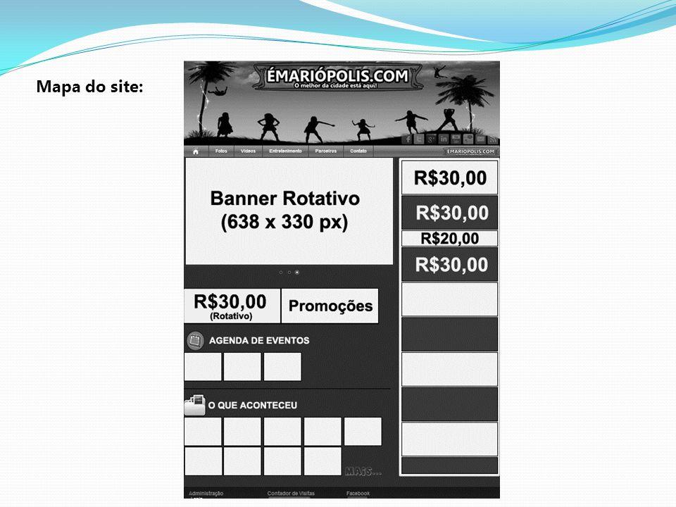 PROPOSTA COMERCIAL Pacotes: Pacote Premium (R$30,00) Mensal: 1 Banner de 298x107 pixels com link; 1 Página inteira; 1 Banner de 298x107 pixels (promoções); Pacote Básico (R$20,00) Mensal: 1 Banner de 298x53 pixels com link;