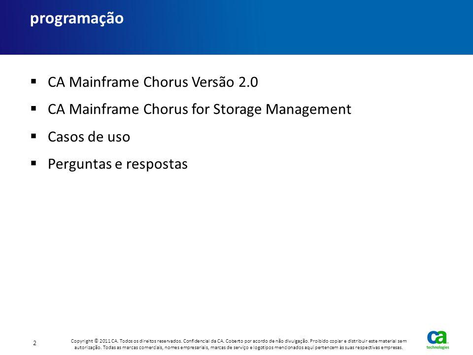 Caso de uso: gerenciamento de conhecimento CA Mainframe Chorus