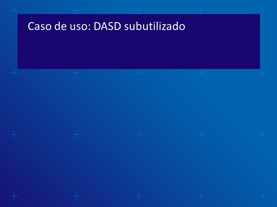 Caso de uso: DASD subutilizado