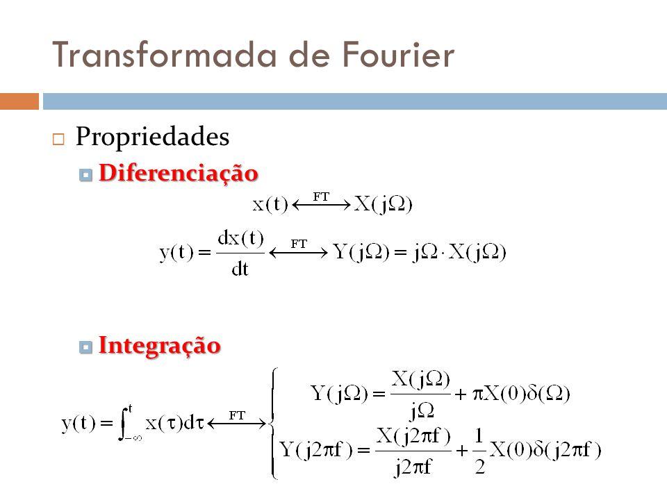 Transformada de Fourier  Propriedades  Diferenciação  Integração