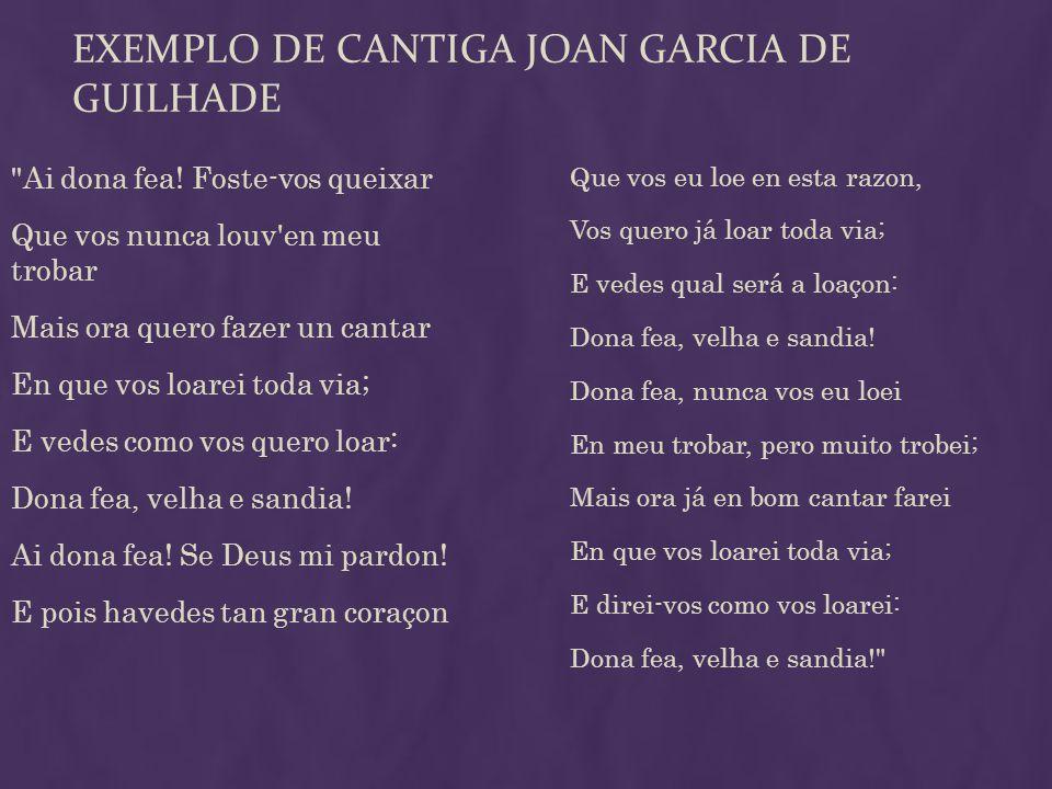EXEMPLO DE CANTIGA JOAN GARCIA DE GUILHADE