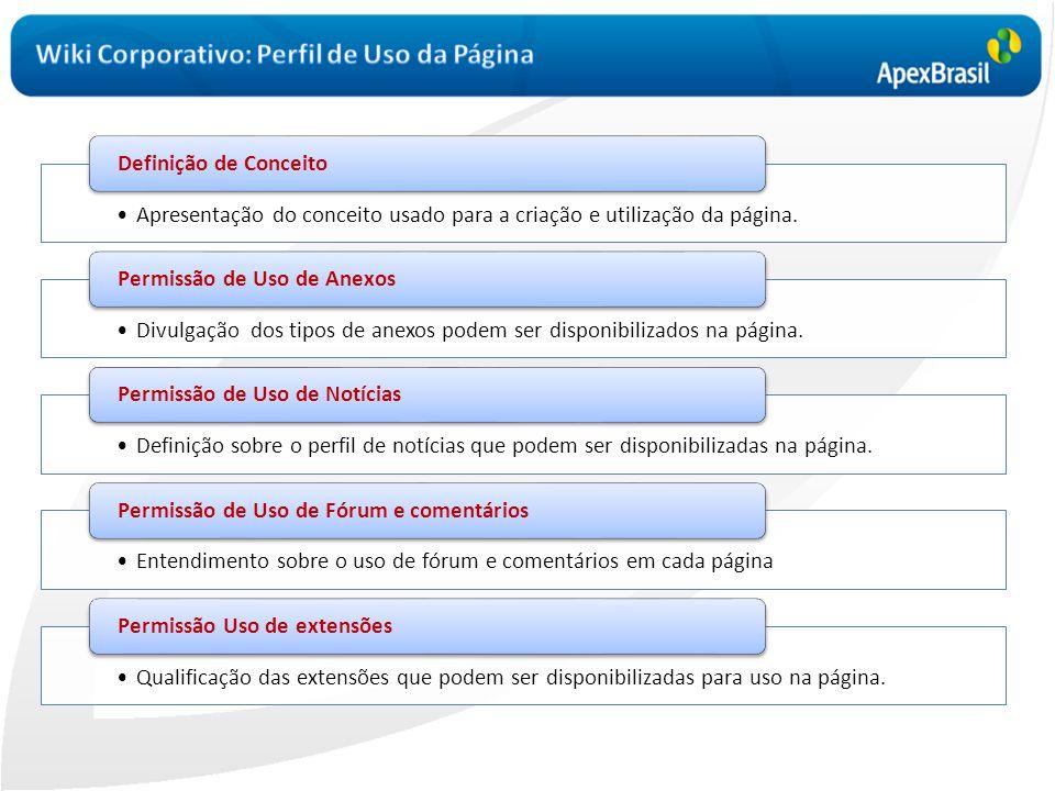 •Apresentação do conceito usado para a criação e utilização da página. Definição de Conceito •Divulgação dos tipos de anexos podem ser disponibilizado