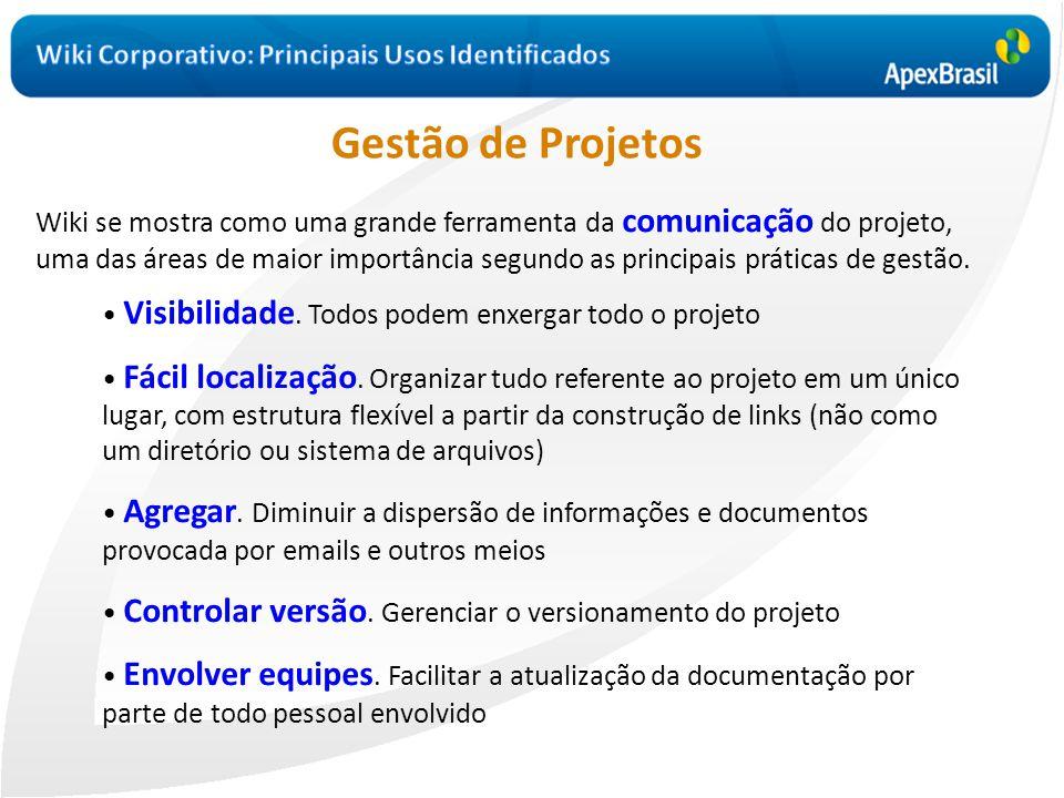 • Visibilidade. Todos podem enxergar todo o projeto • Fácil localização. Organizar tudo referente ao projeto em um único lugar, com estrutura flexível