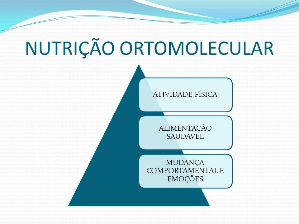 NUTRIÇÃO ORTOMOLECULAR ATIVIDADE FÍSICA ALIMENTAÇÃO SAUDÁVEL MUDANÇA COMPORTAMENTAL E EMOÇÕES