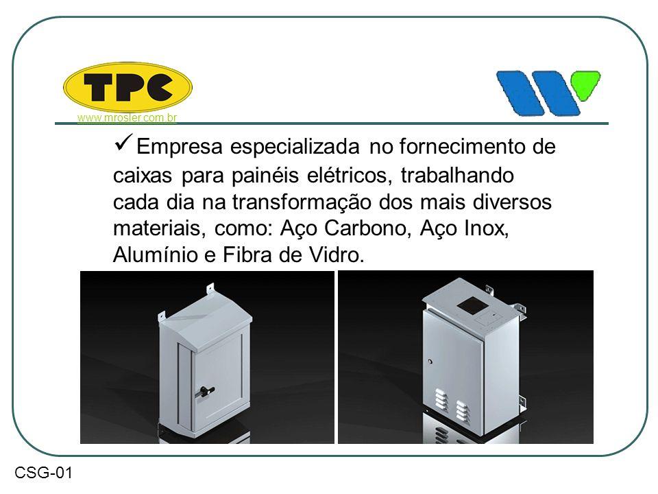  Empresa especializada no fornecimento de caixas para painéis elétricos, trabalhando cada dia na transformação dos mais diversos materiais, como: Aço