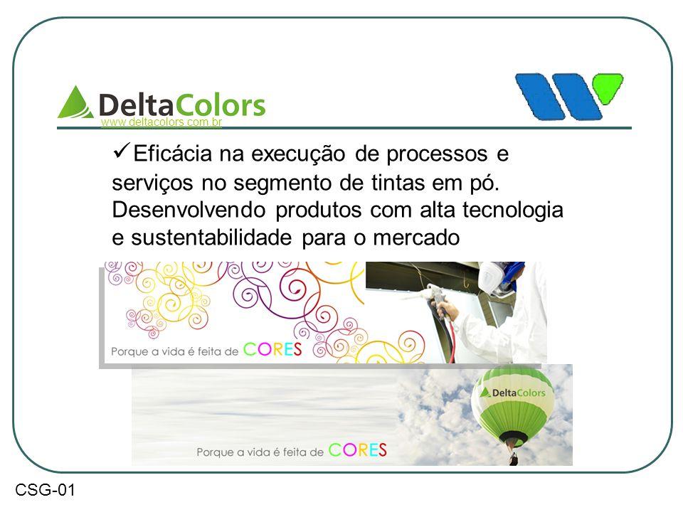  Eficácia na execução de processos e serviços no segmento de tintas em pó. Desenvolvendo produtos com alta tecnologia e sustentabilidade para o merca