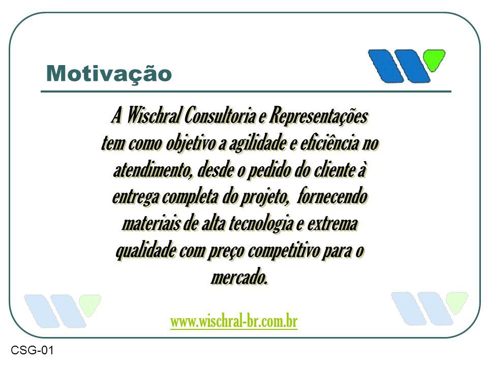 Motivação A Wischral Consultoria e Representações tem como objetivo a agilidade e eficiência no atendimento, desde o pedido do cliente à entrega compl
