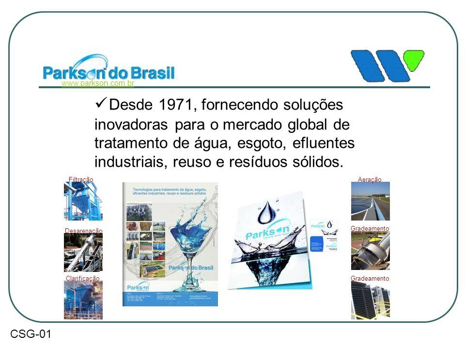  Desde 1971, fornecendo soluções inovadoras para o mercado global de tratamento de água, esgoto, efluentes industriais, reuso e resíduos sólidos. www