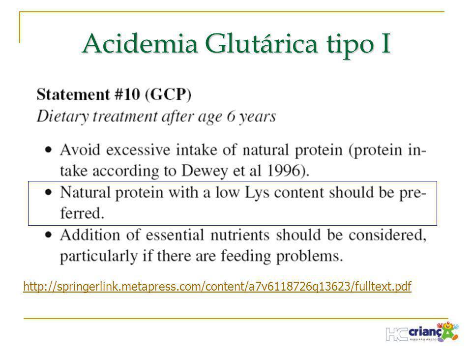 Acidemia Glutárica tipo I http://springerlink.metapress.com/content/a7v6118726q13623/fulltext.pdf
