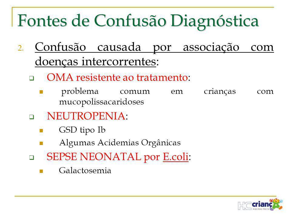 Fontes de Confusão Diagnóstica 2. Confusão causada por associação com doenças intercorrentes:  OMA resistente ao tratamento:  problema comum em cria