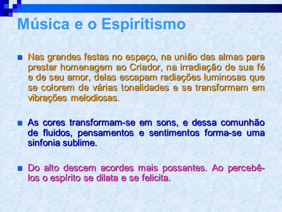 A Música segundo Leon Denis TTTTudo no espaço traduz-se em harmonia. Certos espíritos se comunicam através de ondas sonoras. SSSSinfonia e mel