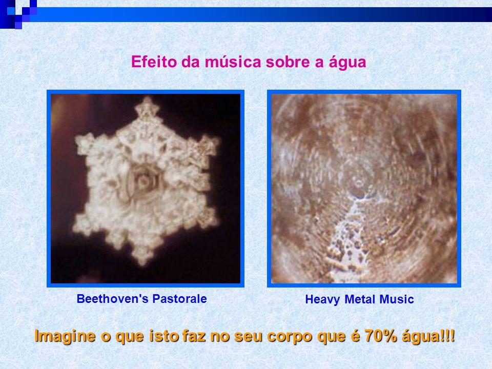 Influência da música nas vibrações do corpo  Dr. Masaru Emoto > A Mensagem de Água. A vida está conectada à água (que corresponde a 70% do corpo). 