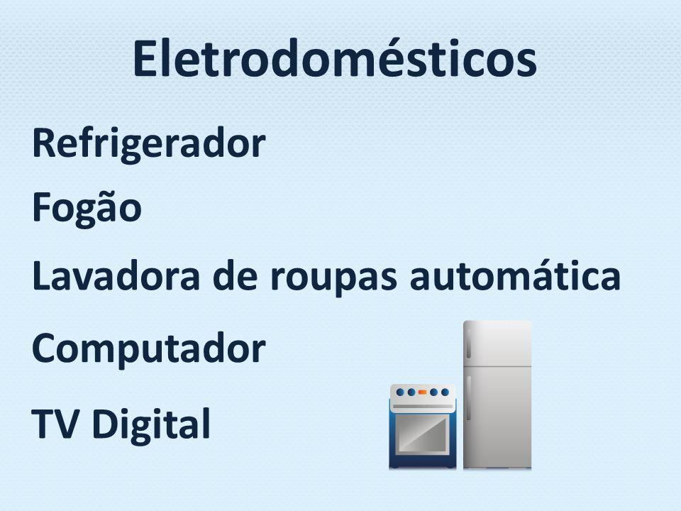 Eletrodomésticos Refrigerador Fogão Lavadora de roupas automática Computador TV Digital